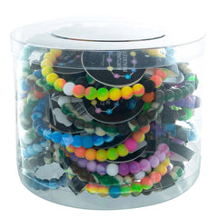 SIL1203B Tie Dye Silicone Fortune Bracelet - 12 Pc Pack Unit or 36 PC Tub