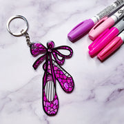 "Color it Acrylic ""Surprise"" Keychain"