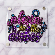 "Color it Acrylic ""Surprise"" Magnet"