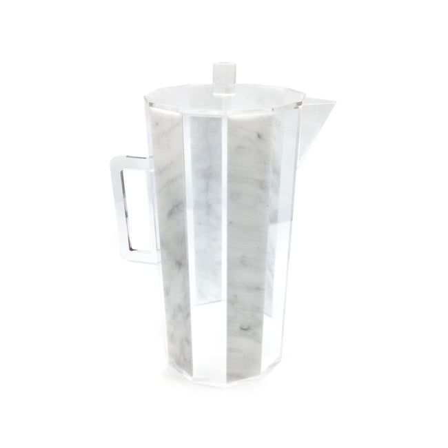Lucite Pitcher- Hexagon (Sale)