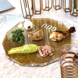Lucite Seder Plate - Hexagon