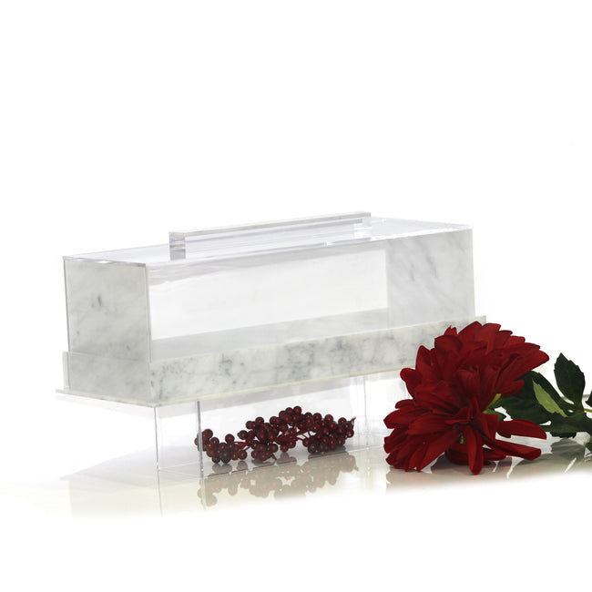 Lucite Cake Dome  - Log (Flat + Footed)