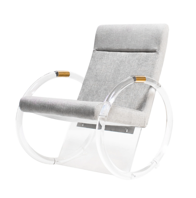 Lucite Rocking Chair