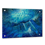 Alex Levin Energy of Jerusalem Giclee Art (Blue)