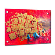 Alex Levin Kotel in Red Giclee Art (Horizontal)