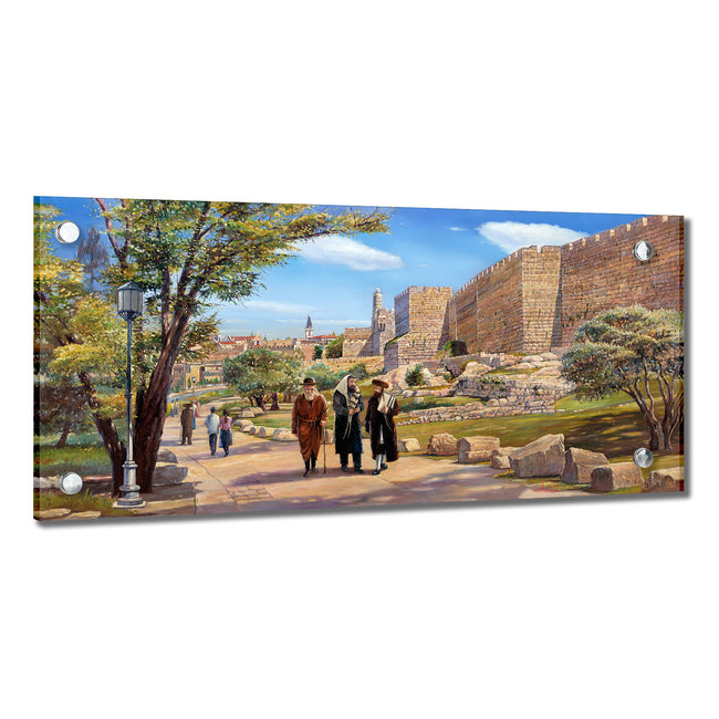 Alex Levin Shabbat Walk in Jerusalem Giclee Art