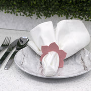 Leather Petal Napkin Ring (4)