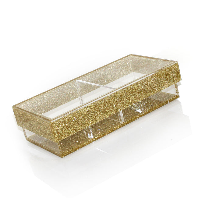 Lucite Divider Sectional Tray (2 Compartments - Small)
