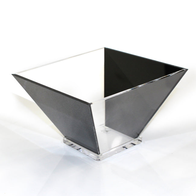 Lucite Trapezoid Salad Bowl - Small