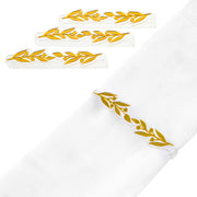 Pomegranate Leaf Napkin Wraps (4)