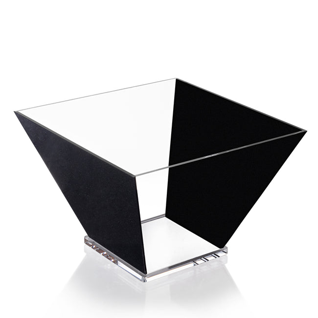 Lucite Trapezoid Salad Bowl - Large