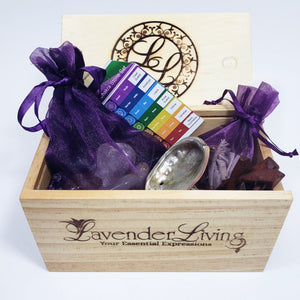chakra stone set and sage, energy cleansing