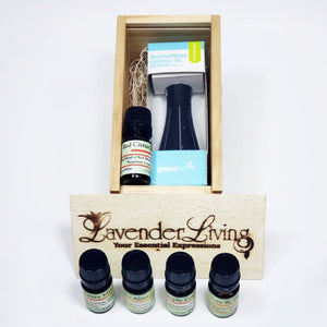 Energizing Essential Oil Diffuser Gift Crate