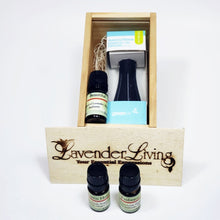 essential oil gift crate with car diffuser