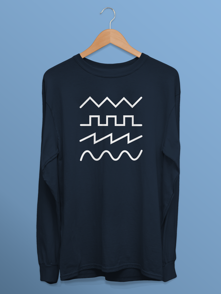 Synth Sound Waves (Unisex Long Sleeve)