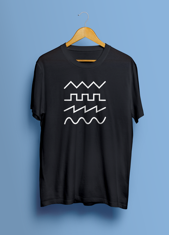 Synth Sound Waves (Unisex T-Shirt)