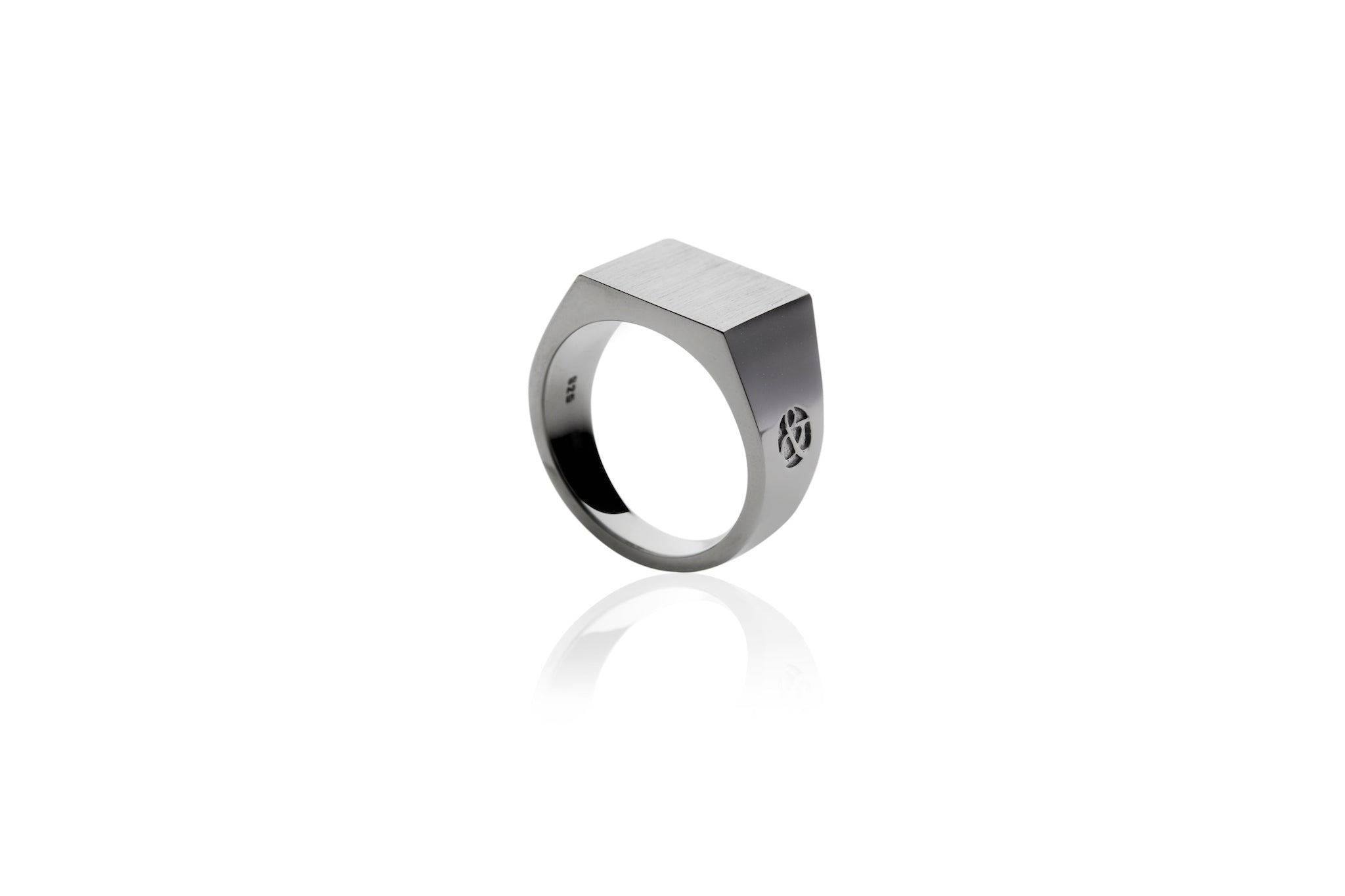 Black Rhodium Signet Ring