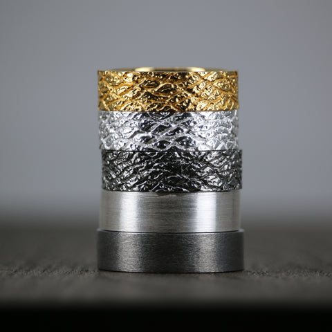 Textured Black Rhodium Ring