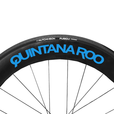 Electric Blue QR wheel Decals