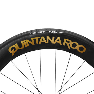 Mirror Gold QR wheel Decals