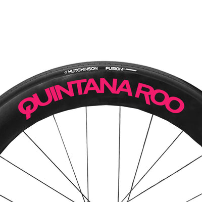 Neon Pink QR wheel Decals