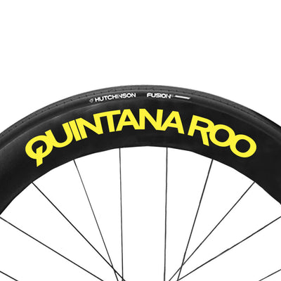 Neon Yellow QR wheel Decals