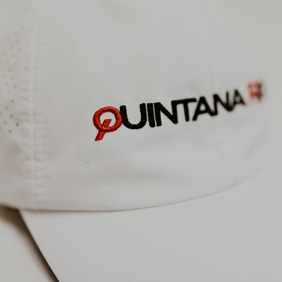 Quintana Roo White Technical Running Hat