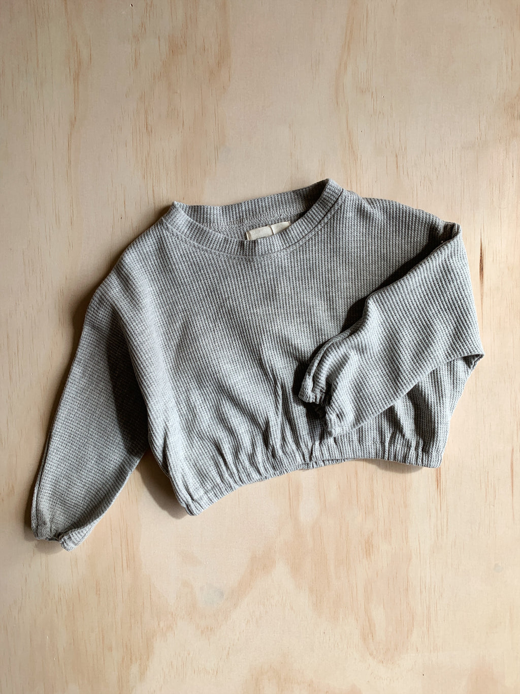 Waffle Pullover - Grey Marle