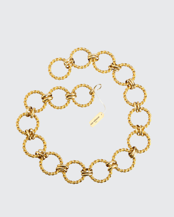 Gold Toned Metal Circle Belt