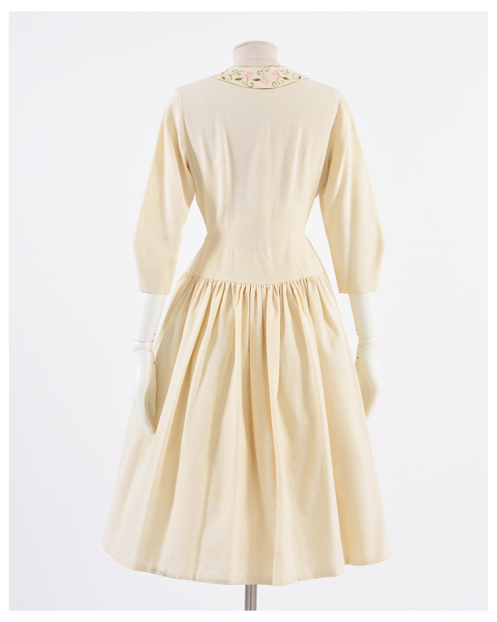 1950s Embroidered Dress-Cavalli e Nastri