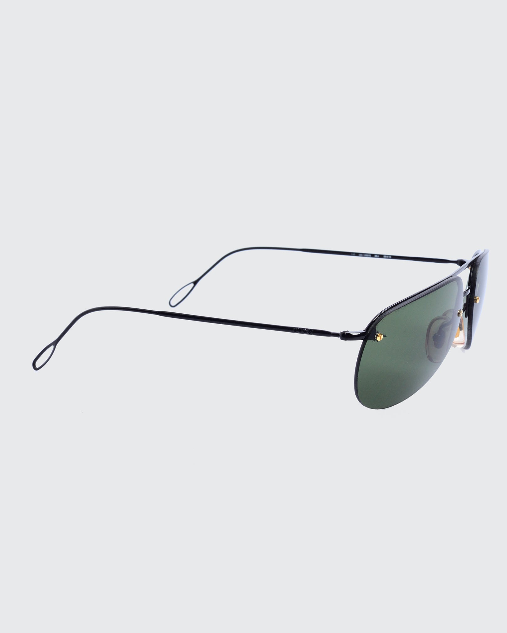 GUCCI Black Encircled Sunglasses