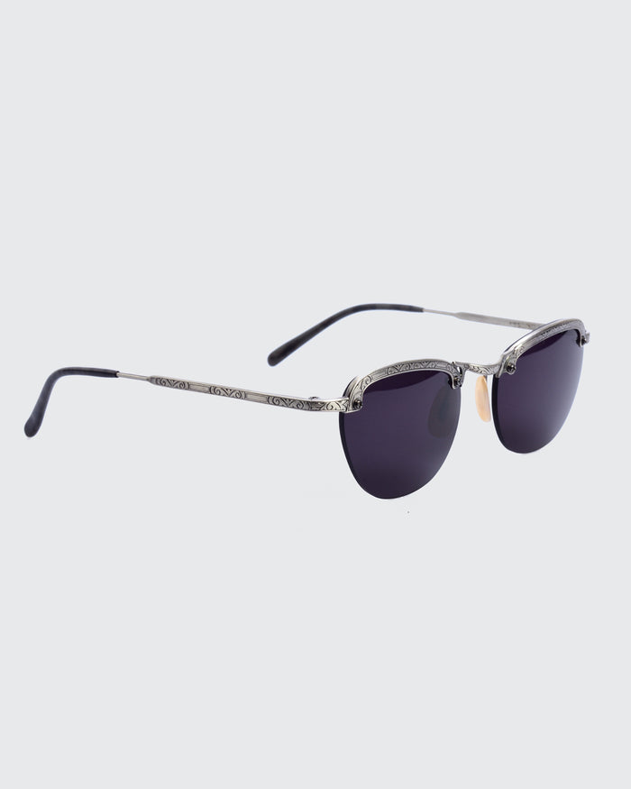 Titanium Rounded Sunglasses