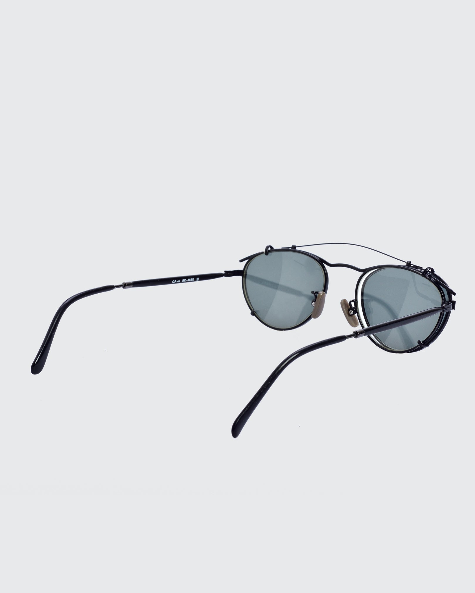 Oliver Peoples Black Rounded Sunglasses