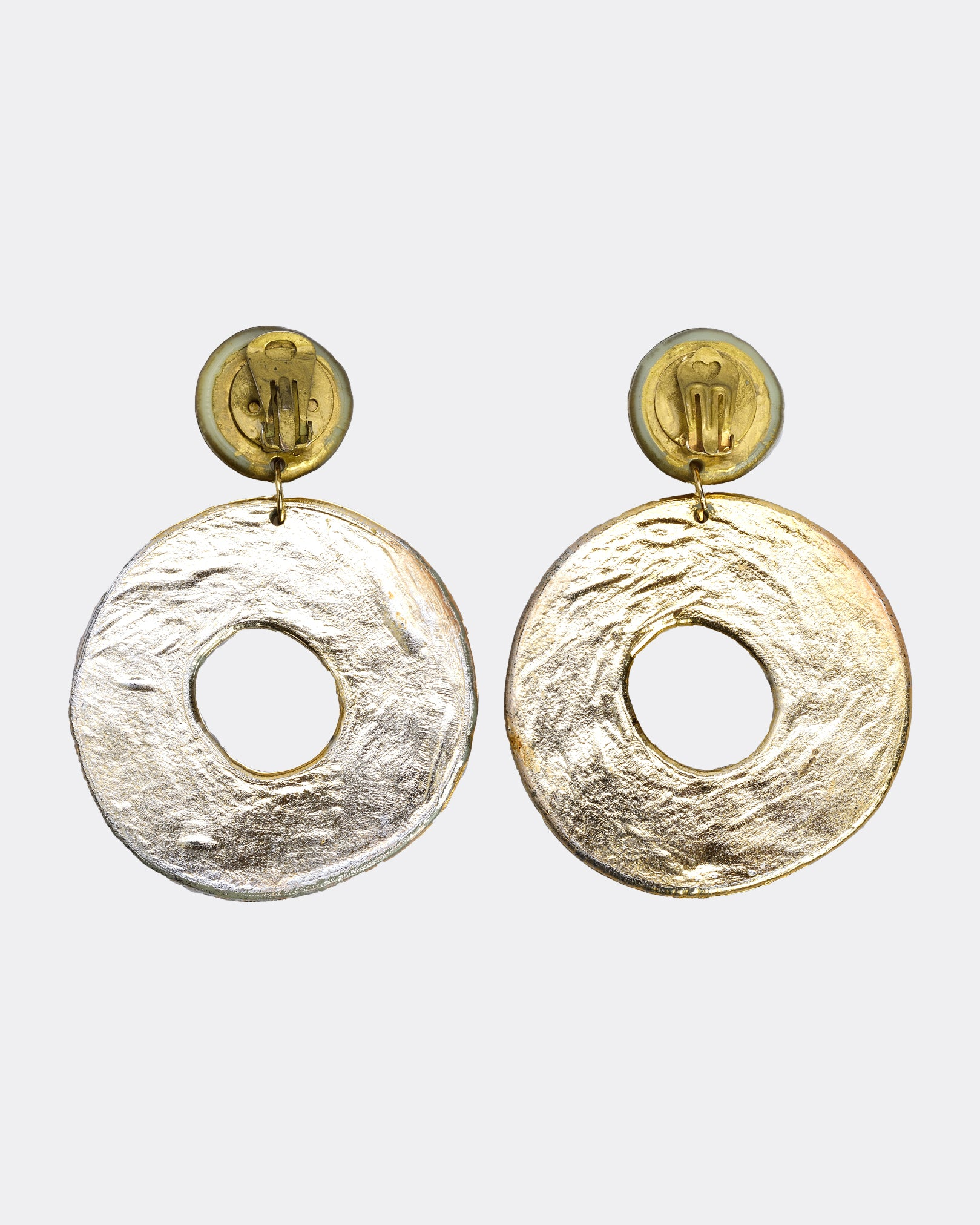 1980s Big Circle Irregular Earrings