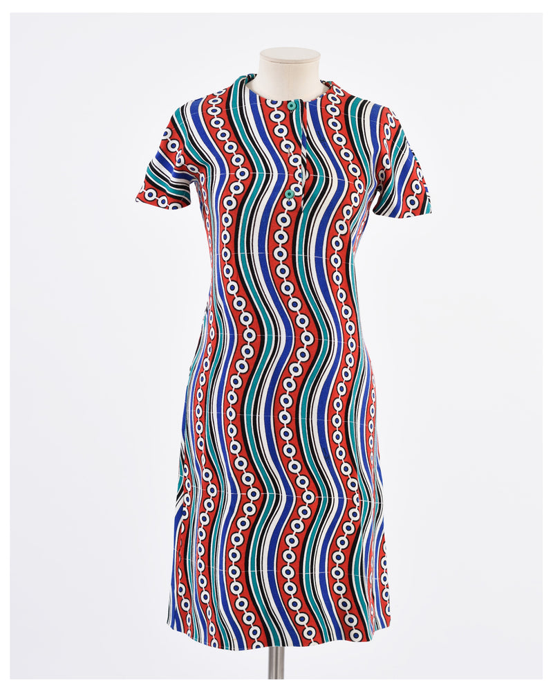 1970s Cotton Dress-Cavalli e Nastri