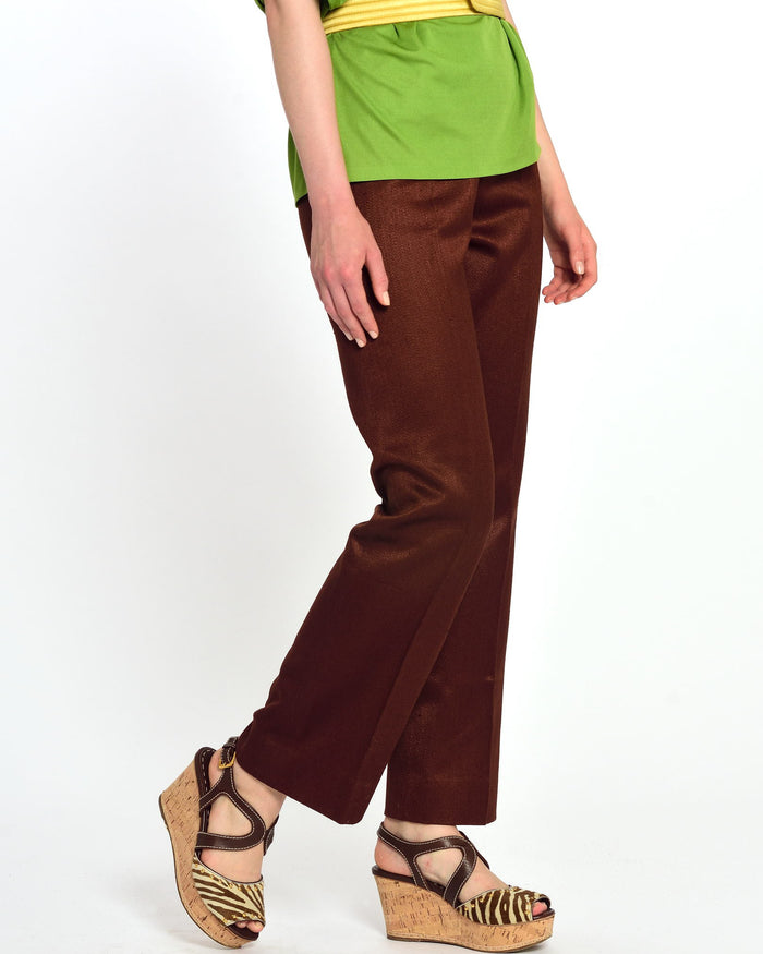 GIO CARÈ 1970s Brown Flared Pants-Cavalli e Nastri
