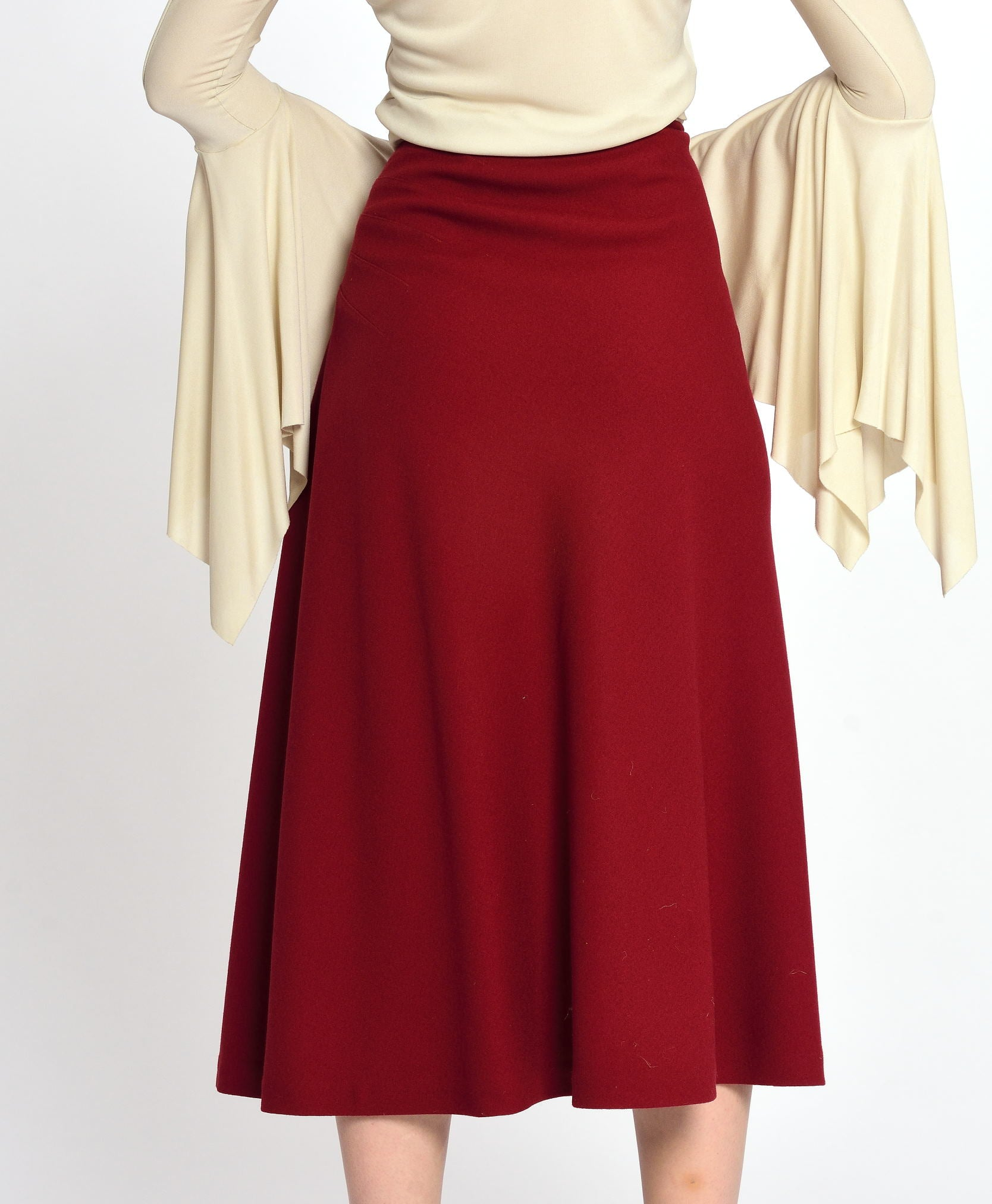 ALAÏA Red Midi Skirt