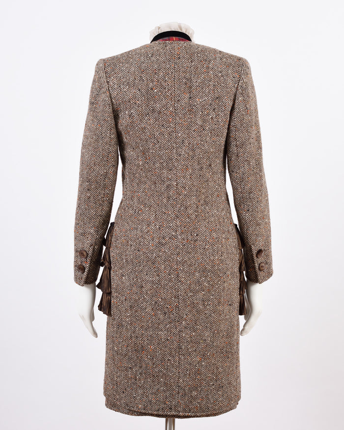 Brown Tweed Coat & Pencil Skirt set