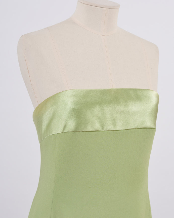 VALENTINO Lime Green Evening Dress-Cavalli e Nastri