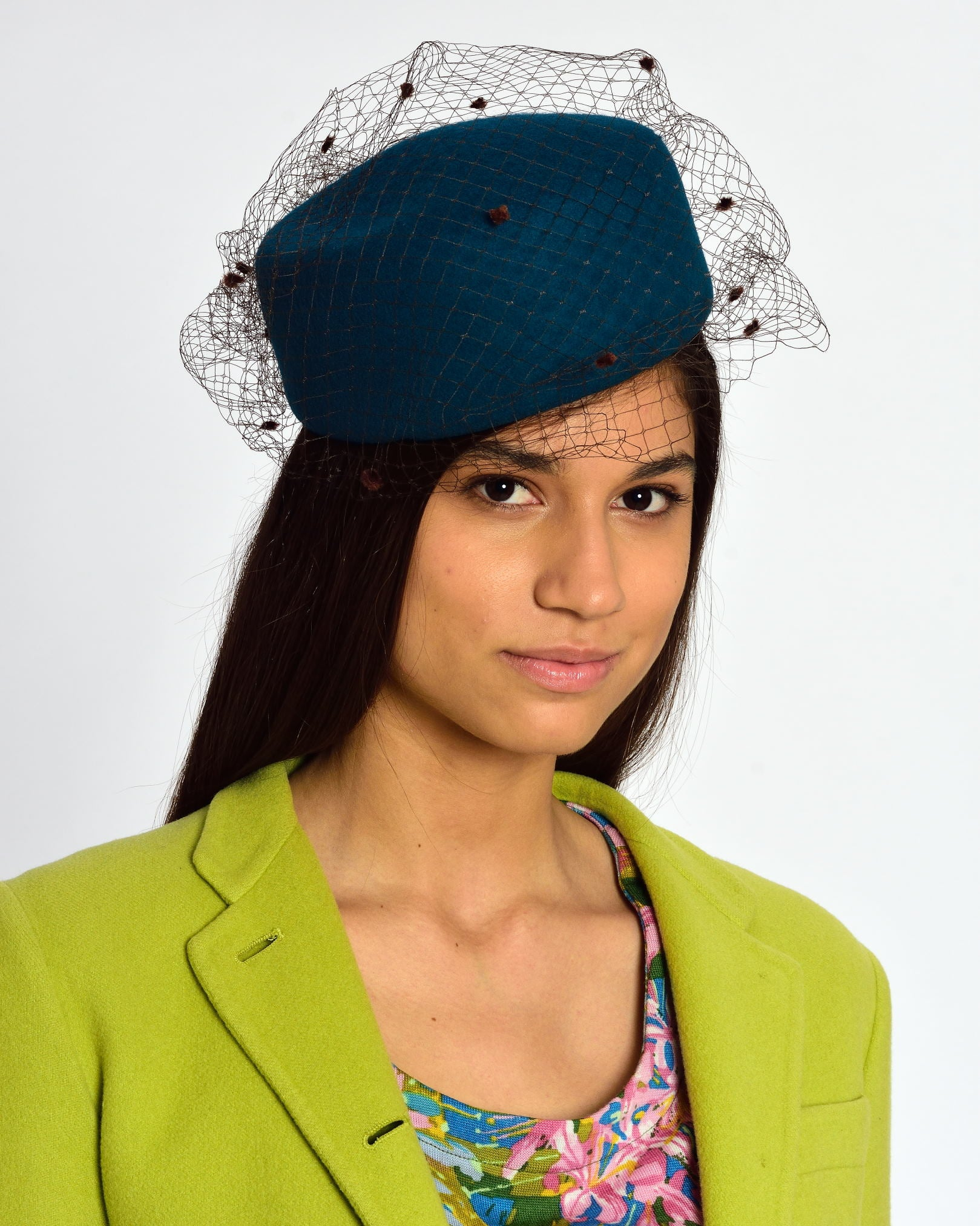Green Pillbox Hat – cavallienastri bfef568b330