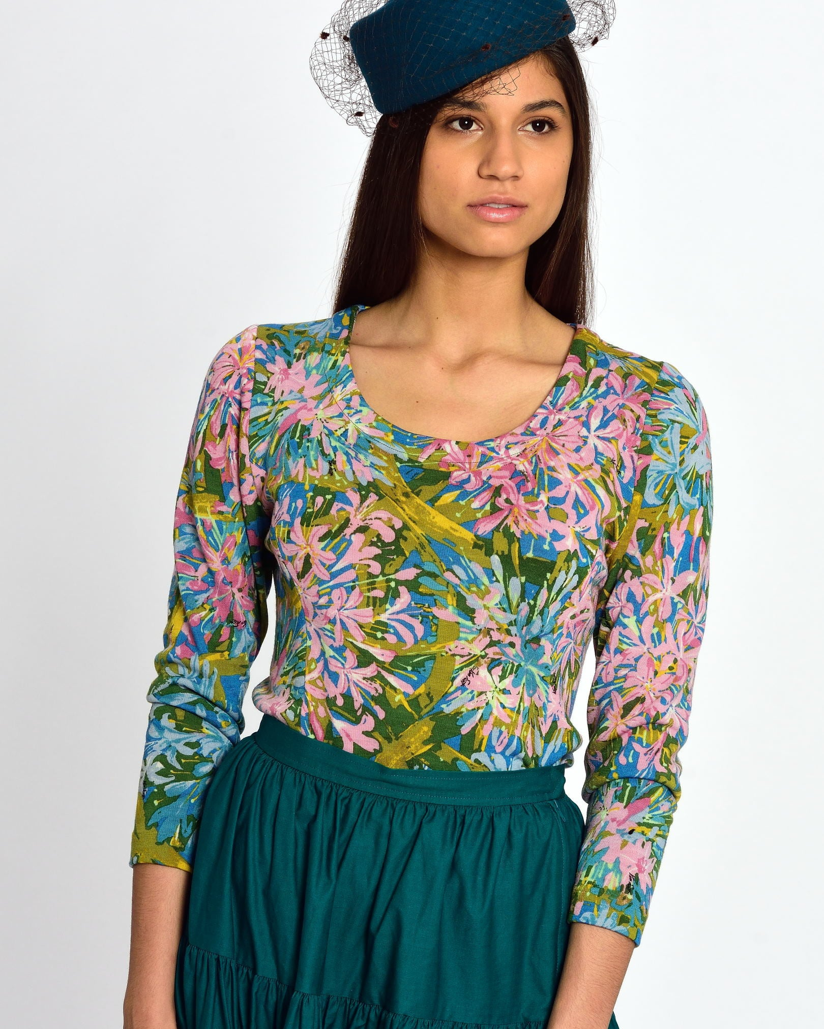 KEN SCOTT Flower Print Top