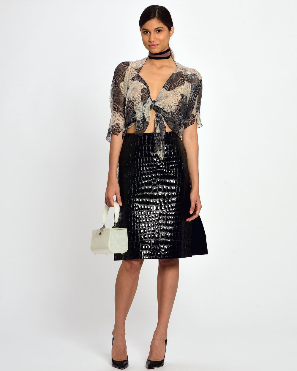 MARNI Leather Pencil Skirt