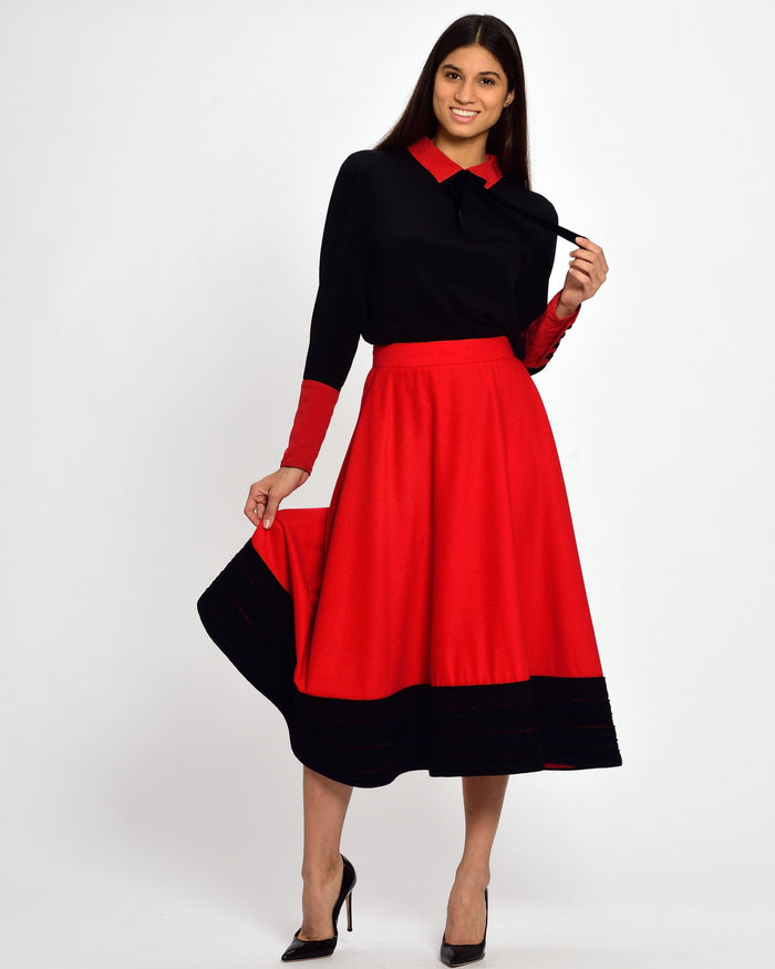 GENNY Red A-line Skirt