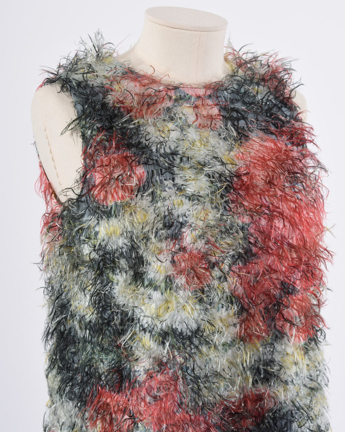 DOLCE & GABBANA Multicolored Feathers Dress
