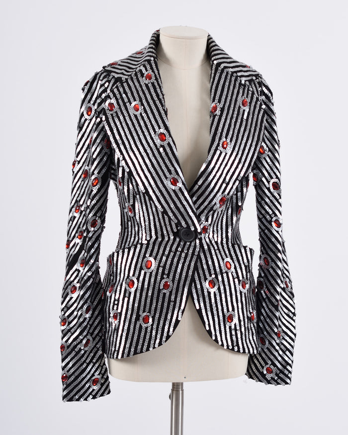 Vivienne Westwood Black Silk Embroidered Jacket-Cavalli e Nastri