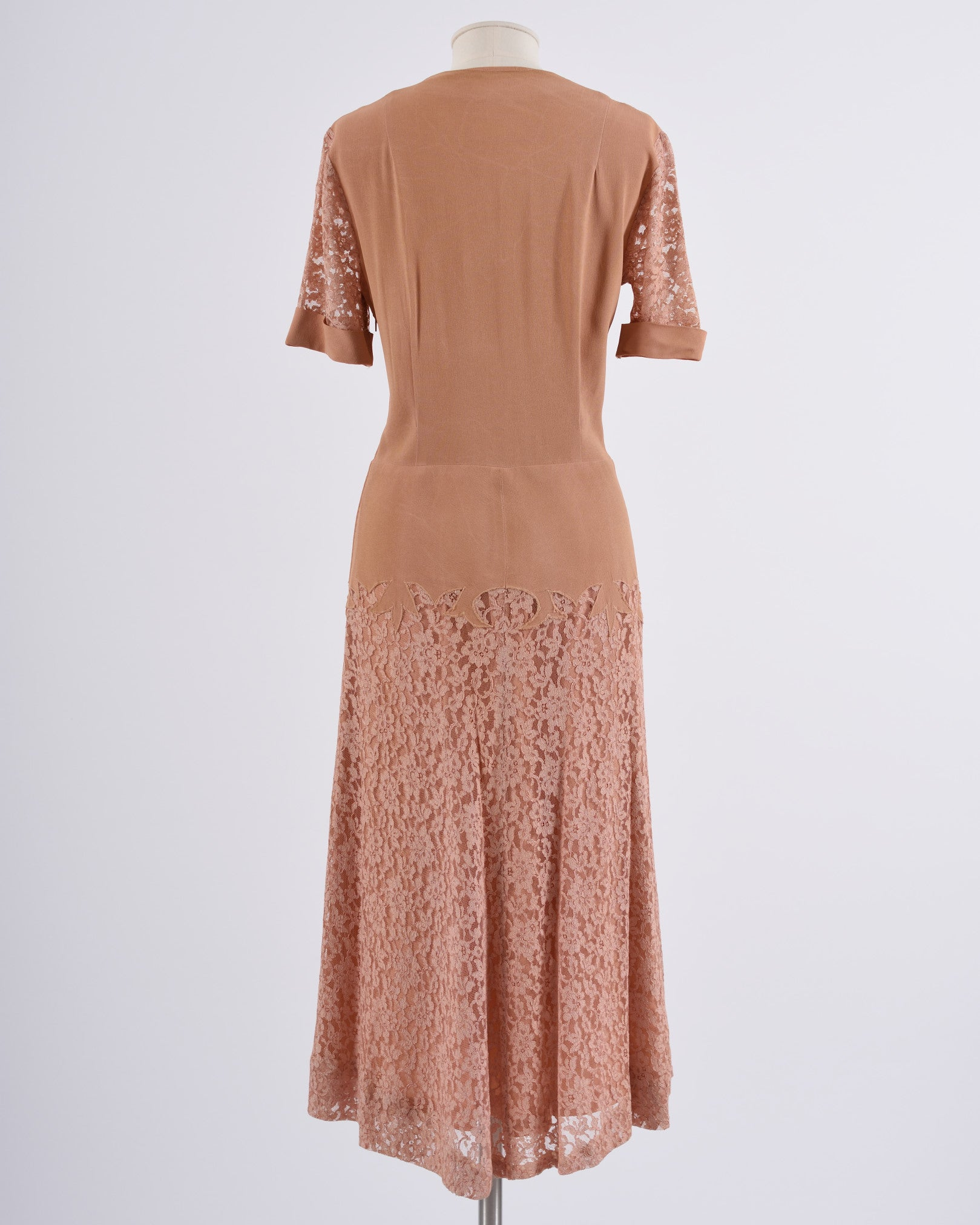 FOREVER YOUNG BY PURITAN 1950s Nude Lace Dress