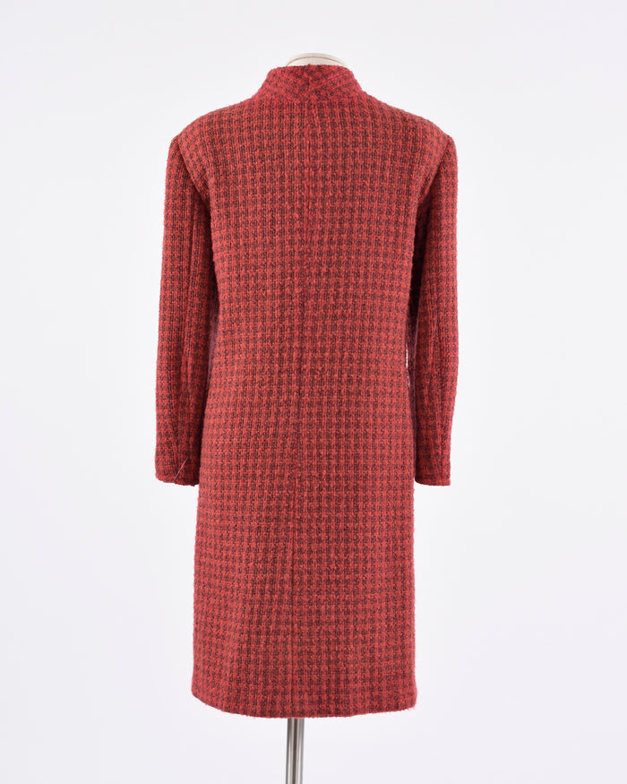 1960s Red Pied de Poule Coat