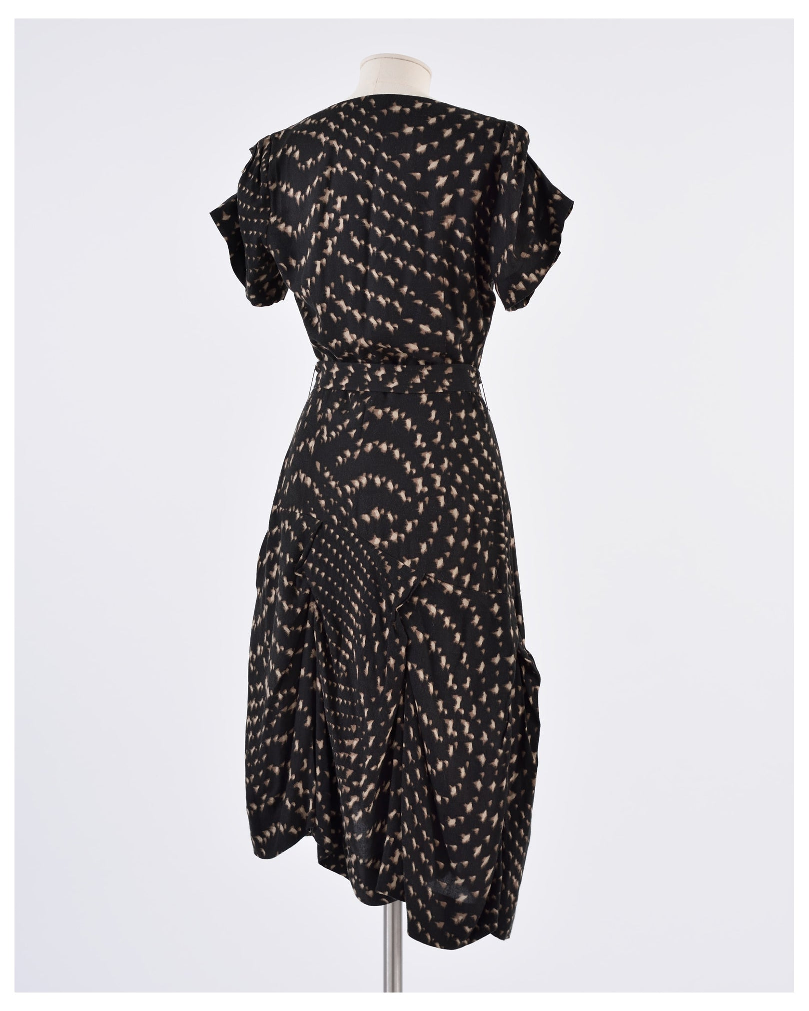 Vivienne Westwood Abstract Print Draped Dress