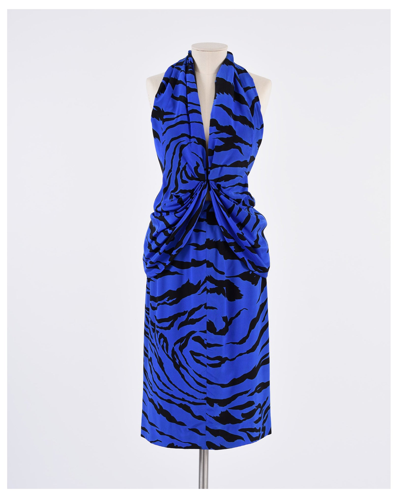 1980s Bluette Zebra Suit Dress