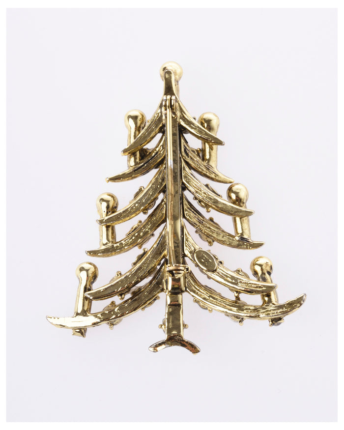 1950s Christmas Tree Brooch